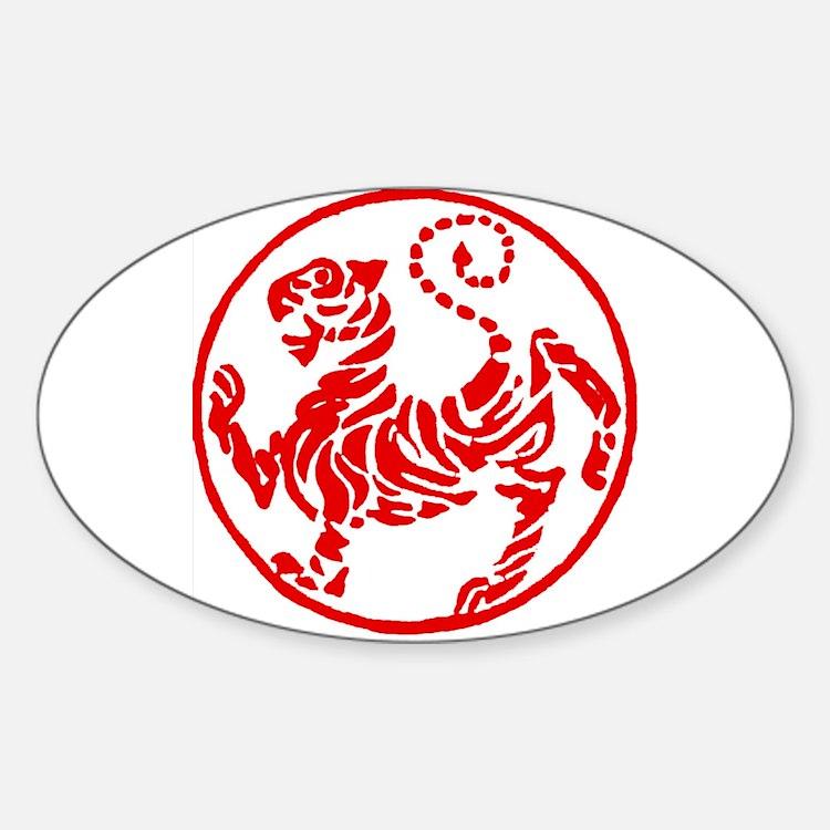 Shotokan Red Tiger Decal