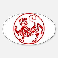 Shotokan Red Tiger Sticker (Oval)