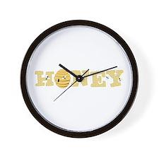 Honey Bees Wall Clock