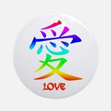 Love Chinese Symbol Ornament (Round)