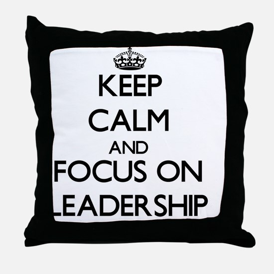 Unique Leadership Throw Pillow