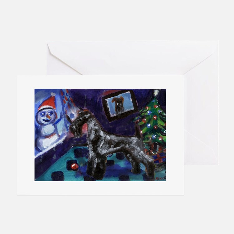 KERRY BLUE xmas Greeting Cards