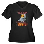 Fires At Work Women's Plus Size V-Neck Dark T-Shir