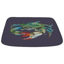 Blue Crab Navy Bathmat