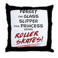 Roller Princess Throw Pillow