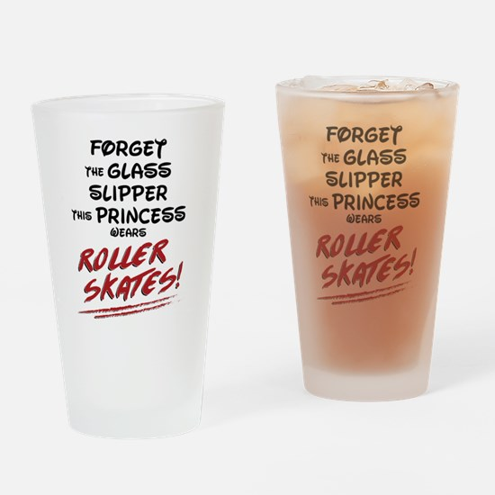 Roller Princess Drinking Glass