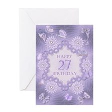 27th birthday lilac dreams Greeting Cards