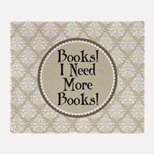 Book Quote Funny Reading Throw Blanket