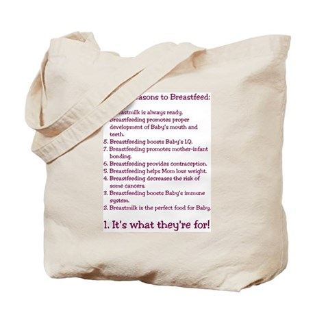 Top 10 Reasons to Breastfeed Tote Bag