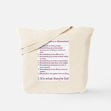 Top 10 Reasons to Breastfeed Tote Bag