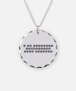 silently correcting grammar-type gray Necklace