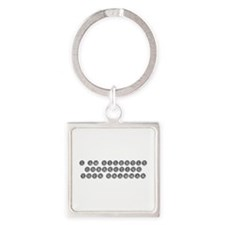 silently correcting grammar-type gray Keychains