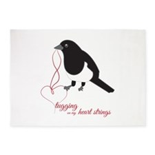Tugging Heart Strings 5'x7'Area Rug