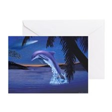 THE HAPPY DOLPHIN Greeting Cards