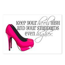 Cute High heels Postcards (Package of 8)