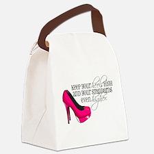 Cute High heel Canvas Lunch Bag