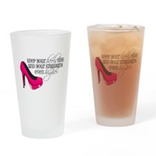 Cute High heel Drinking Glass
