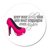 High heels Round Car Magnets
