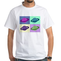 Saturn White T-Shirt