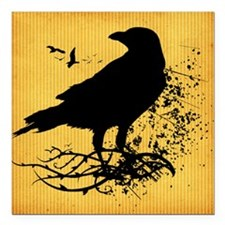 "Nevermore Square Car Magnet 3"" x 3"""