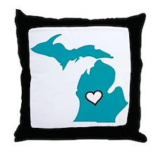Love MI Throw Pillow