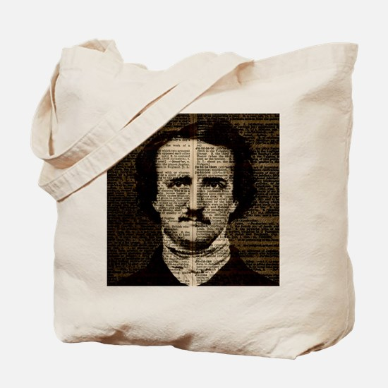 Cute Edgar allan poe skull Tote Bag