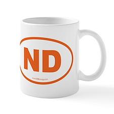 North Dakota ND Euro Oval Mug