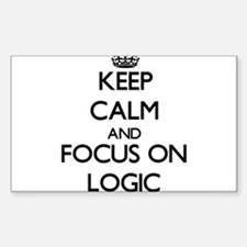 Keep Calm and focus on Logic Decal