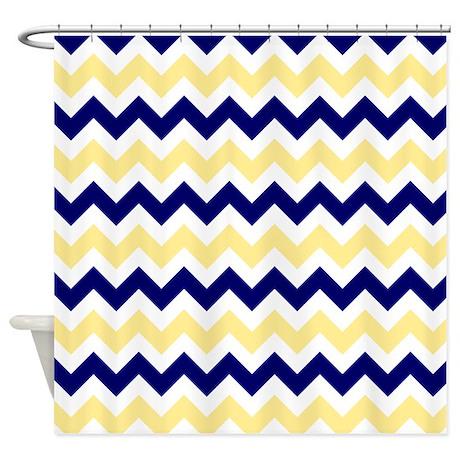 Nautical Chevron Light Yellow Shower Curtain By Admin Cp2452714