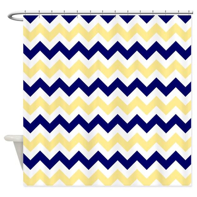 Nautical Chevron Light Yellow Shower Curtain By Admin