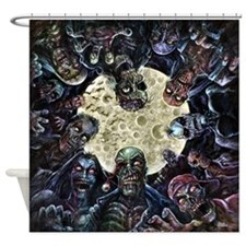 Zombies Full Moon Shower Curtain