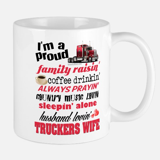Husband Lovin' Truckers Wife Mugs