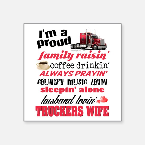 Husband Lovin' Truckers Wife Sticker