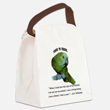 Cute Parrot Canvas Lunch Bag