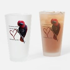 Cute Parrots Drinking Glass