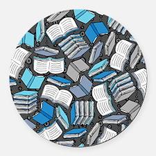 So Many Books Round Car Magnet
