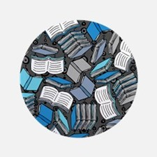 """So Many Books 3.5"""" Button"""