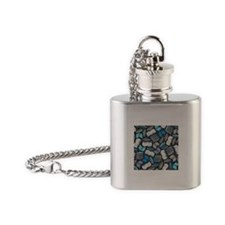 So Many Books Flask Necklace