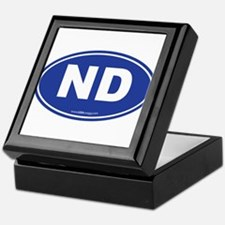 North Dakota ND Euro Oval Keepsake Box