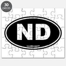 North Dakota ND Euro Oval Puzzle