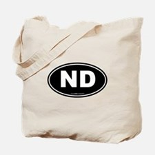 North Dakota ND Euro Oval Tote Bag