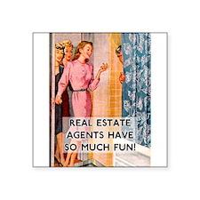 """Cute Real estate agents Square Sticker 3"""" x 3"""""""