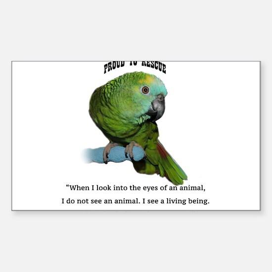 Cool Parrots Sticker (Rectangle)