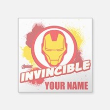 "Avengers Assemble Iron Man Square Sticker 3"" x 3"""
