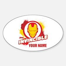 Avengers Assemble Iron Man Personal Sticker (Oval)