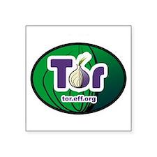 """Cute Tor Square Sticker 3"""" x 3"""""""