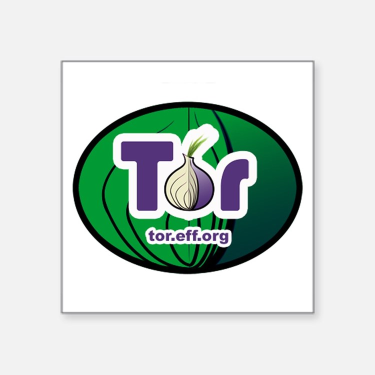 "Cute Tor Square Sticker 3"" x 3"""