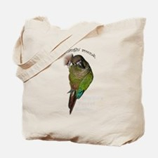 Unique Green cheek conure Tote Bag