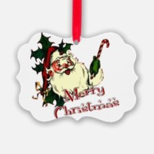 Merry Christmas Vintage Santa Ornament
