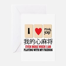 Mah Jong & Friends Greeting Cards